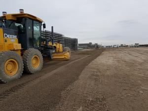 Soccer pitch construction 873