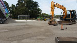 Soccer pitch construction 001